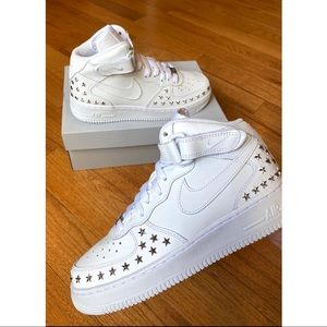 ⚡️Custom Nike Air Force 1 Mids Star Studded⚡️